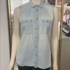 Jean shirt from Madewell.